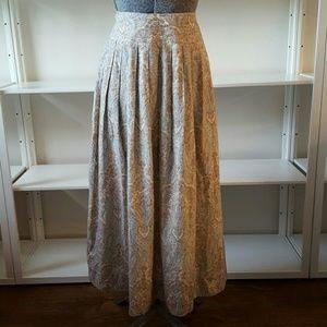 Vintage J.G. Hook Boho Paisley Midi Skirt